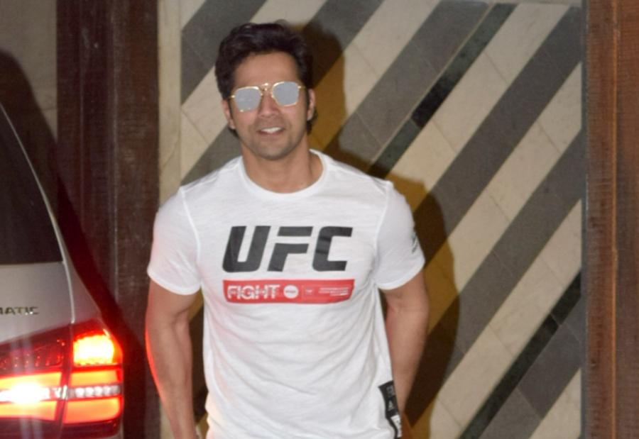 Mumbai: Actor Varun Dhawan seen at a Mumbai gym on Oct 30, 2019. (Photo: IANS) by .