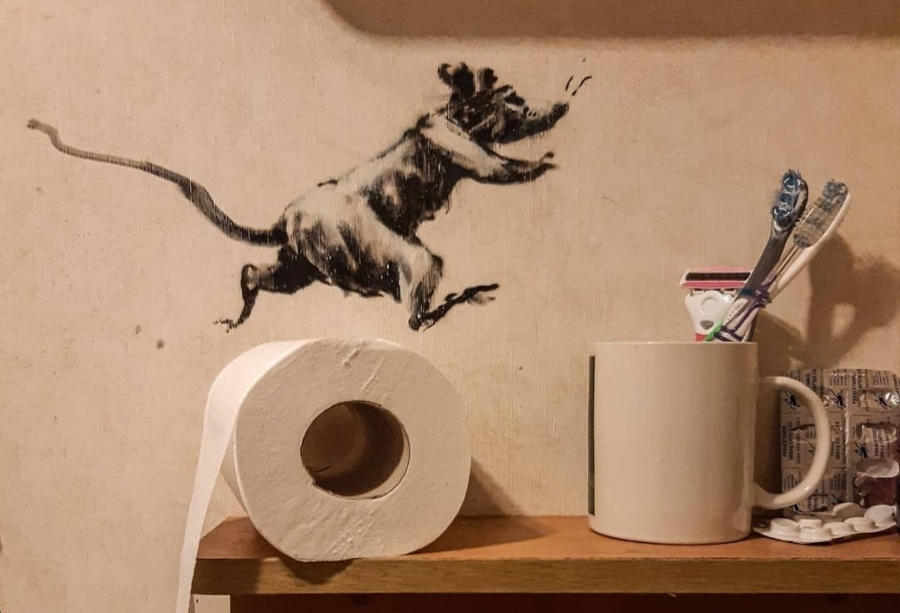Banksy, the acclaimed anonymous British street artist, has revealed his latest artwork of a series of rats causing mayhem in his bathroom, while in lockdown amid the ongoing coronavirus pandemic, a media report said on Thursday. by .