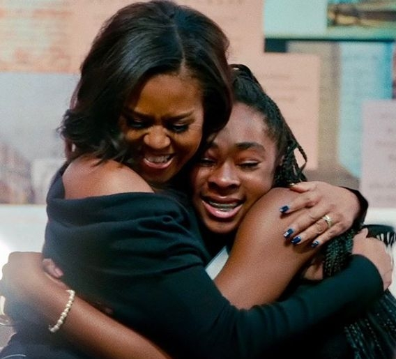 Michelle Obama's new documentary traces her book tour. by .