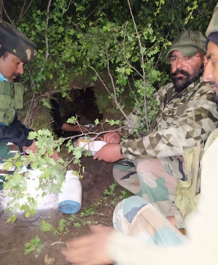 One hideout busted in Arizal Khansaib, Budgam and a top over ground worker of Lashkar e Taiba (LeT), namely Zahoor Wani was arrested. Arms and ammunition recovered from his possession. More arrests and recoveries are expected. Case registered. by .