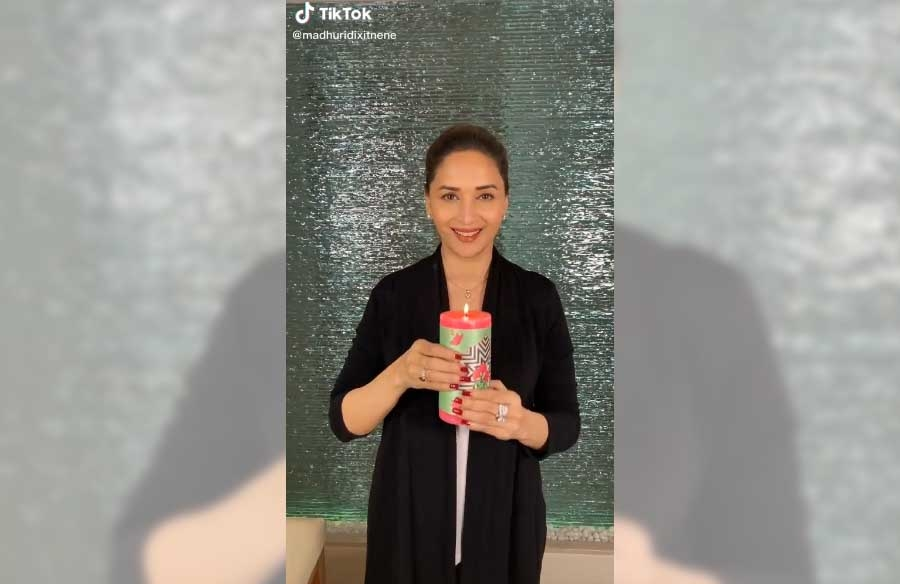 Madhuri Dixit's dance with a candle to spread positivity. by .