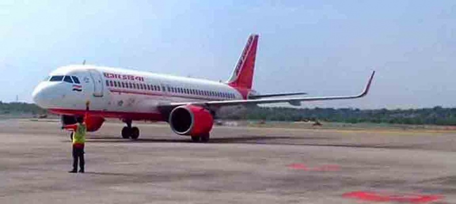 Hyderabad: Air India evacuation flight from San Francisco with 118 passengers on board landed at Rajiv Gandhi International Airport in Hyderabad during the nationwide lockdown imposed to mitigate the spread of coronavirus, on May 11, 2020. Vande Bharat evacuation flight AI 1617 from US (San Francisco) to Mumbai and Hyderabad landed at 9.22 a.m. (Photo: IANS) by .