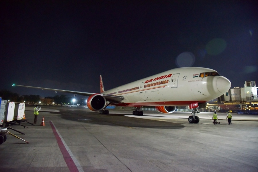 The Air India flight from London to Mumbai with 329 passengers. by .