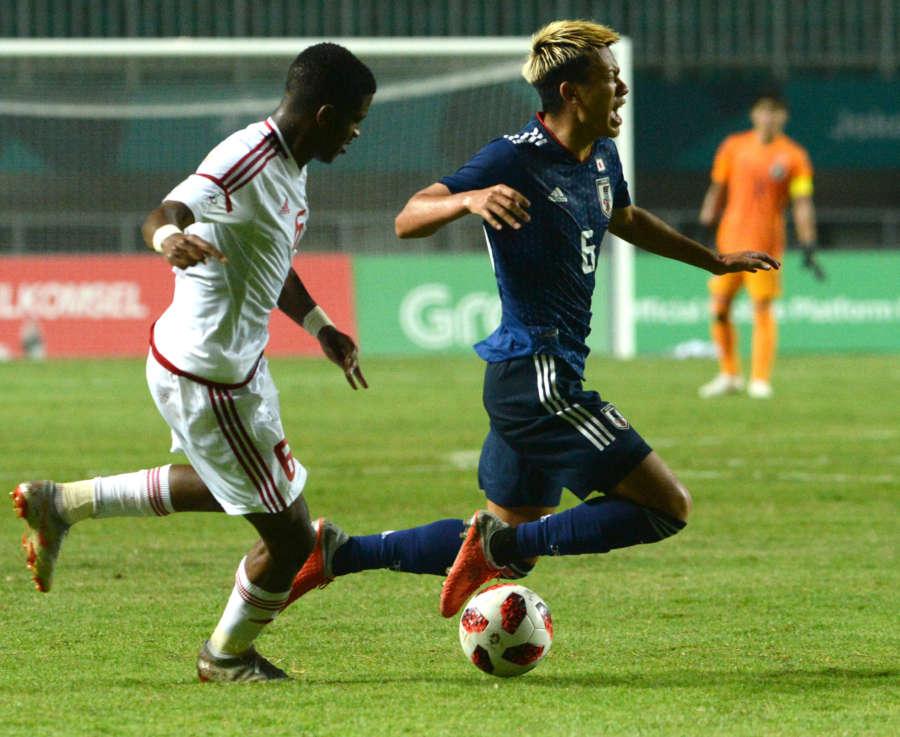 (SP)INDONESIA-BOGOR-ASIAN GAMES-MEN'S FOOTBALL-SEMIFINAL-JAPAN VS UAE by .