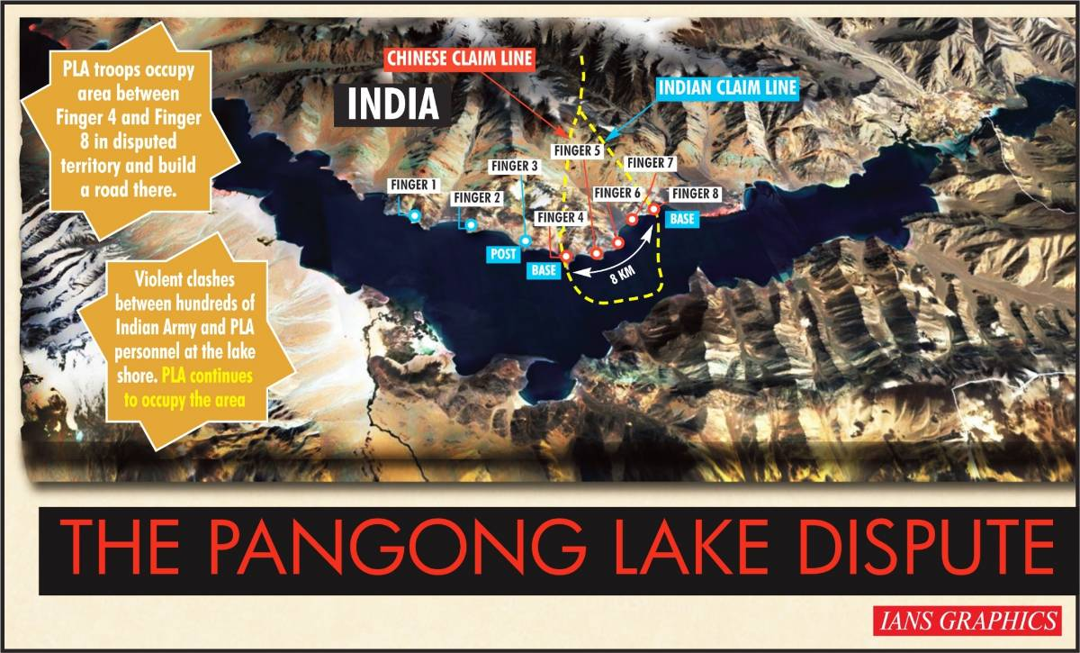 The Pangong Lake dispute. (IANS Infographics) by .