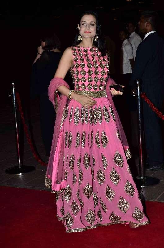 Mumbai: Actor Ameesha Patel during Arpita Khan's marriage reception in Mumbai, on November 21, 2014. (Photo: IANS) by .