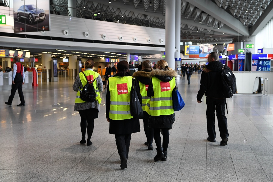 GERMANY-BERLIN-AIRPORTS-STRIKE by .