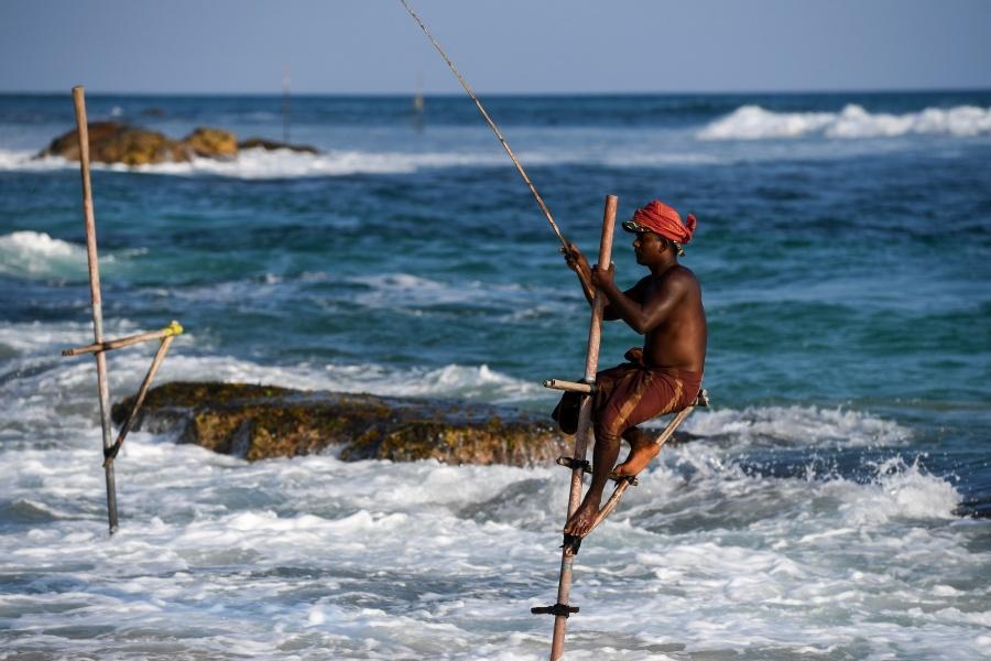 SRI LANKA-GALLE-STILT FISHING by .