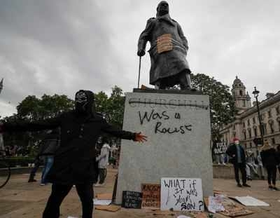 Protests break out in London against police brutality by .