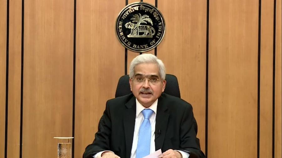 Mumbai: Reserve Bank of India Governor Shaktikanta Das addresses a pess conference at the RBI Headquarters in Mumbai on Apr 17, 2020. (Photo: IANS) by .
