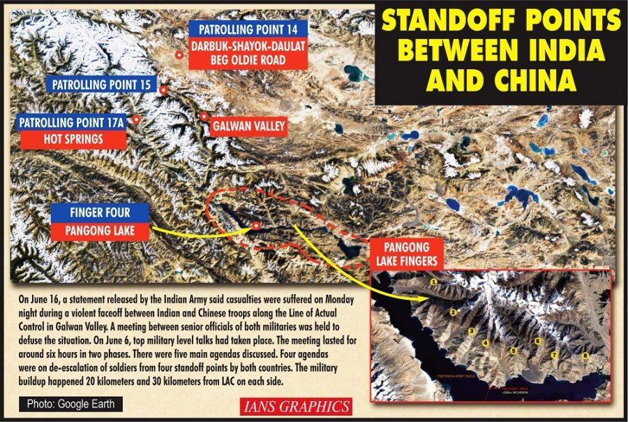 Standoff points between India and China. (IANS Infographics) by .