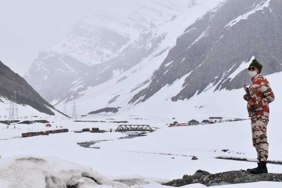 ITBP escorts 900 supply trucks to Kargil from Zoji La in Ladakh. by .