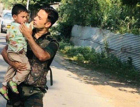 Toddler rescued after watching grandad die in Kashmir terror strike. by .