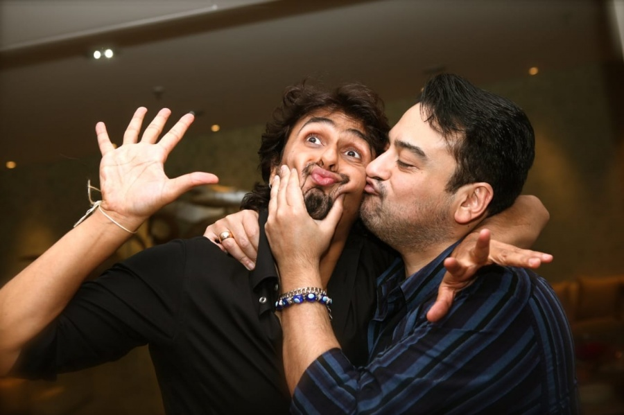 Adnan Sami stands by 'true brother' Sonu Nigam. by .