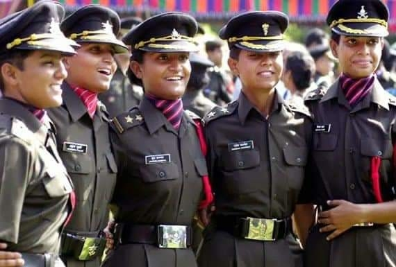 Indian Army women officers. by .