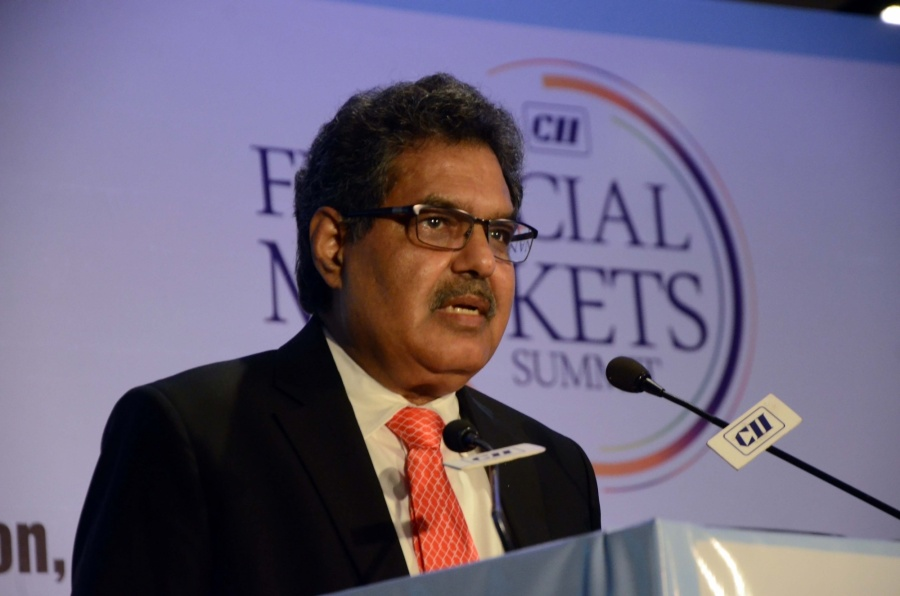 Mumbai: Securities and Exchange Board of India (SEBI) Chairman Ajay Tyagi addresses at Financial Markets Summit in Mumbai, on Dec 7, 2018. (Photo: IANS) by .