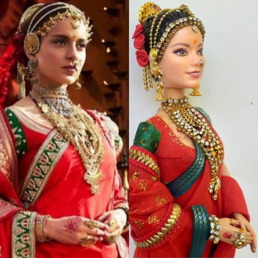 Kangana Ranaut's team shares photo of Manikarnika doll. by .