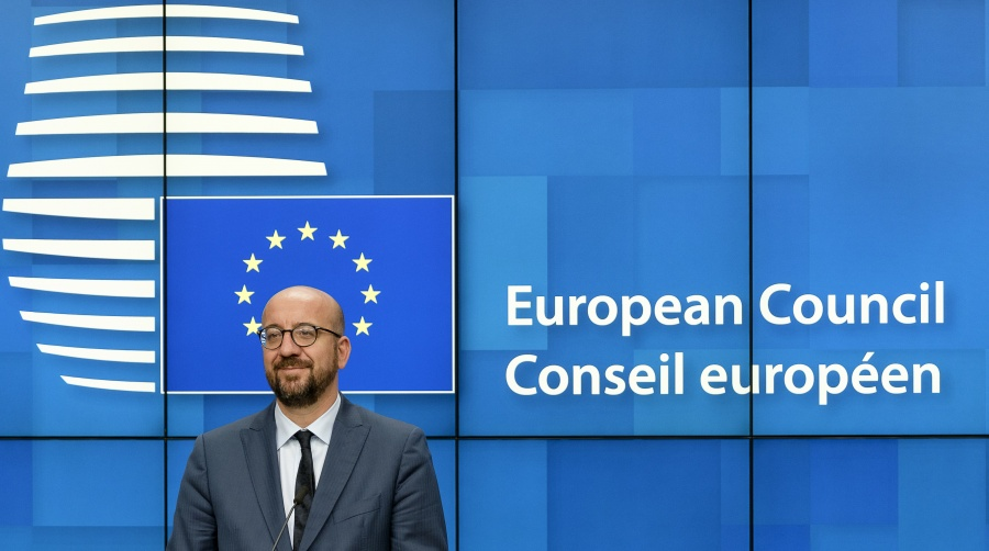 BRUSSELS, July 2, 2019 (Xinhua) -- Belgian Prime Minister and president-elect of the European Council Charles Michel attends a press conference after the special summit of the European Council in Brussels, Belgium, on July 2, 2019. The European Union leaders on Tuesday agreed on the future leadership of the EU institutions, proposing Ursula von der Leyen, the female German Defense Minister, to be the next European Commission President. Charles Michel, the Prime Minister of Belgium, was elected to be the next President of the European Council. Christine Lagarde, the managing director of the International Monetary Fund, was nominated to be President of the European Central Bank. Josep Borrell Fontelles, the Foreign Minister of Spain, was nominated to be the EU's foreign policy chief. Except Michel, other candidates would have to go through formalities to get on the job. (Photo by Thierry Monasse/Xinhua/IANS) by .