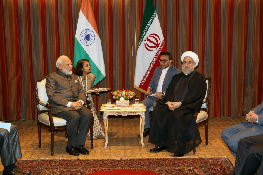 New York: Prime Minister Narendra Modi meets Iranian President Hassan Rouhani in New York on Sep 26, 2019. (Photo: Mohammed Jaffer/IANS) by .