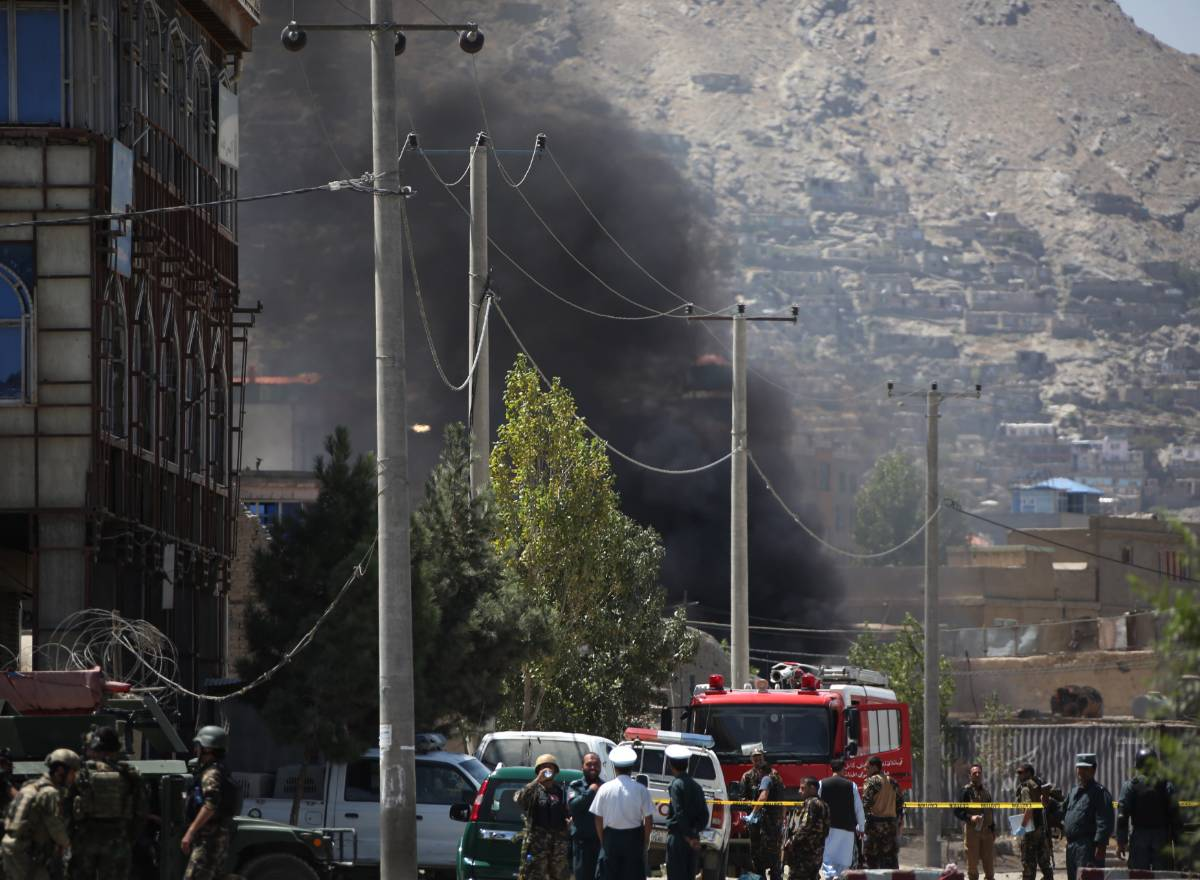 AFGHANISTAN-KABUL-ROCKET ATTACK by .