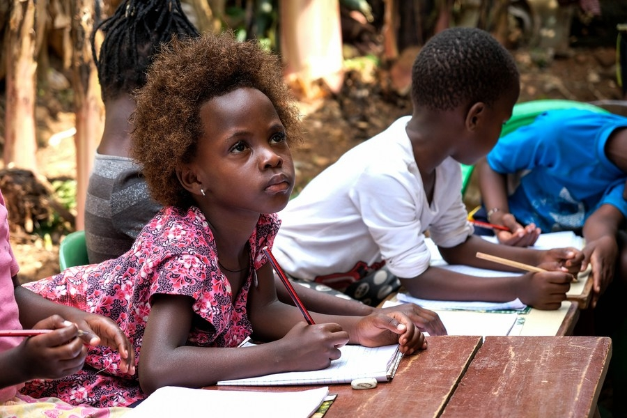 United Nations, Aug. 27 (Xinhua) -- Children attend a provisional class organized by kindergarten teacher Juliet Namanda at her home in Kampala, capital of Uganda, June 19, 2020. (Photo by Hajarah Nalwadda/Xinhua/IANS) by .