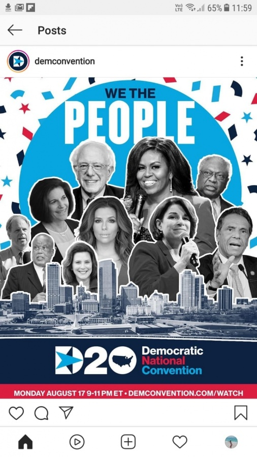 Former First Lady Michelle Obama speaks remotely to the Democratic Party's remote national convention on Monday, August 17, 2020. (Photo: DNC/IANS) by .