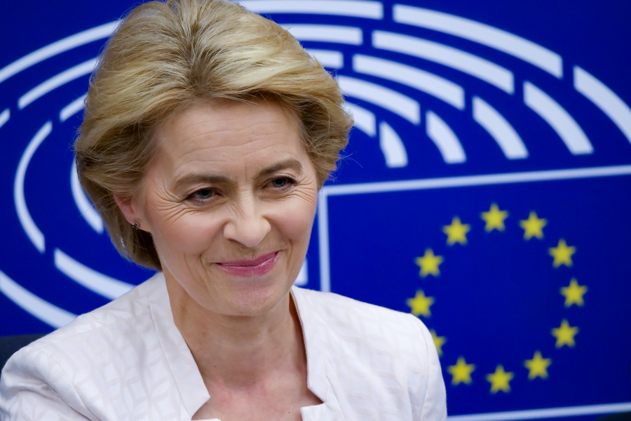 STRASBOURG (FRANCE), July 16, 2019 (Xinhua) -- Ursula von der Leyen attends a press conference after being elected the next president of the European Commission at the headquarters of European Parliament in Strasbourg, France, July 16, 2019. Germany's Ursula von der Leyen was elected to be the next president of the European Commission on Tuesday with a slim majority. (Xinhua/Zhang Cheng/IANS) by .