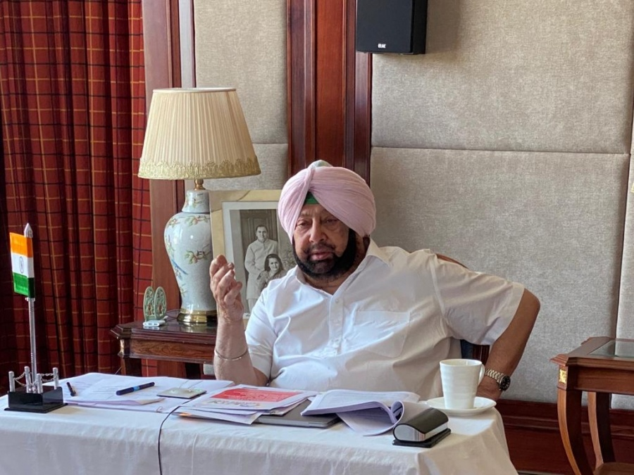 Punjab Chief Minister Captain Amarinder Singh. by .