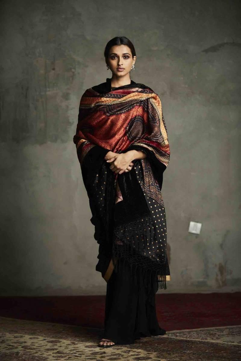 A Bandhani creation by designer Ritu Kumar. by .