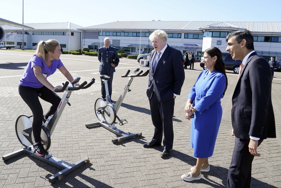 Boris Johnson and Rishi take part in 24 hour Cycle challenge by .
