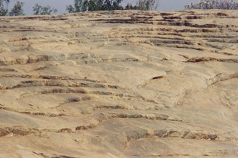 A View of the impressive and massive exposure of Peninsular Gneiss at Lalbagh in Bangalore. (Photo Courtesy: Wikipedia) by .