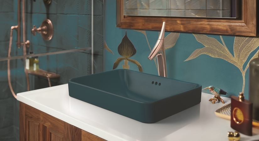 A unique range of faucets for contemporary bath spaces. by .