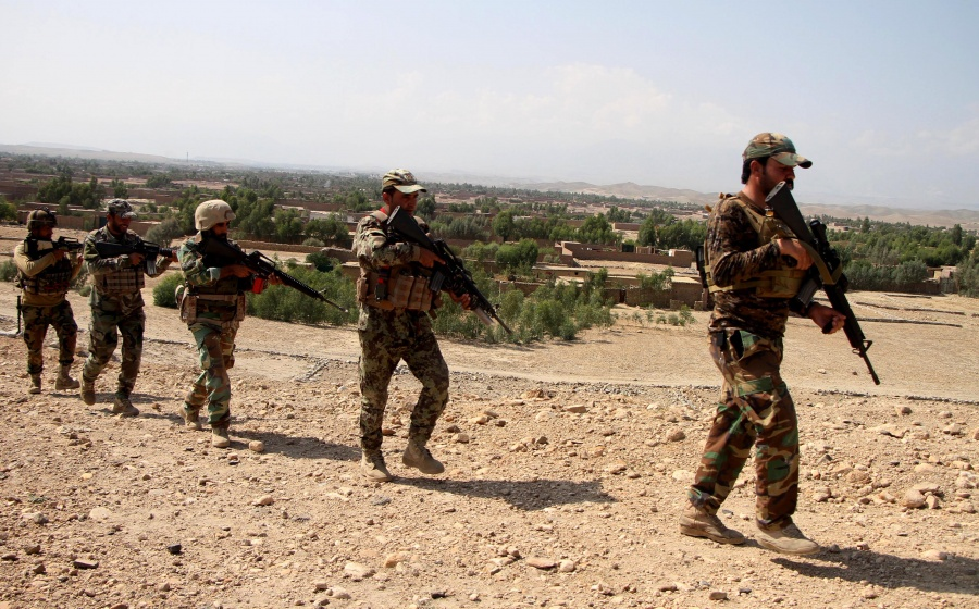 JALALABAD, Sept. 8, 2019 (Xinhua) -- Afghan security force members take part in a military operation in Surkhrod district of Nangarhar province, eastern Afghanistan, on Sept. 8, 2019. Afghan forces had killed 32 militants in Surkhrod district of eastern Nangarhar province as cleanup operations continued, said an army statement released here Sunday. (Photo by Saifurahman Safi/Xinhua/IANS) by .