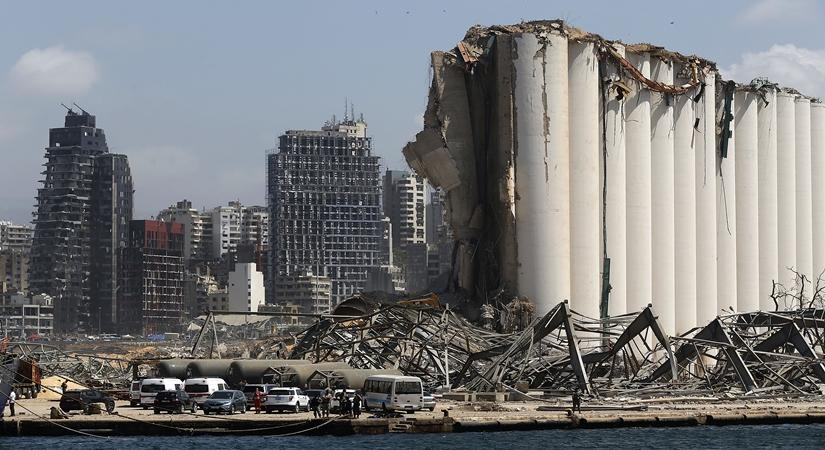 Aftermath of a huge explosions that hit Beirut's port in Lebanon on Aug 8, 2020. (Xinhua/Bilal Jawich/IANS) by .